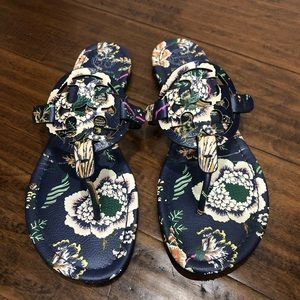 Tory Burch Miller Navy Happy Times Floral
